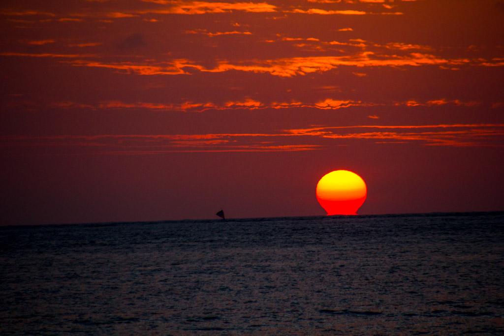 When sun goes down in Bali